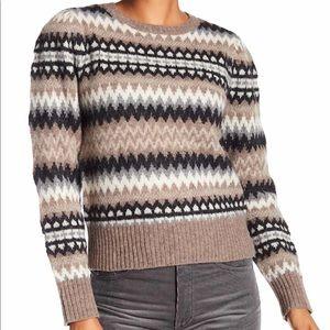 Marc Jacob's Fair Isle Wool Sweater Size Small